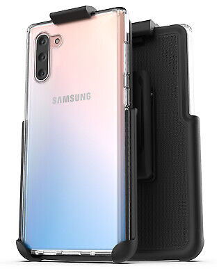 Samsung Galaxy Note 10 Belt Clip Case  w Kickstand Clear Cover w Holster Black