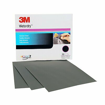 "3M 02036 600 Grit Wet or Dry Sandpaper 9"" x 11"" 2036 50 Sheets"
