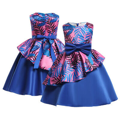 Baby Girl Clothes Kids Floral Princess Party Dresses Summer Children Clothing