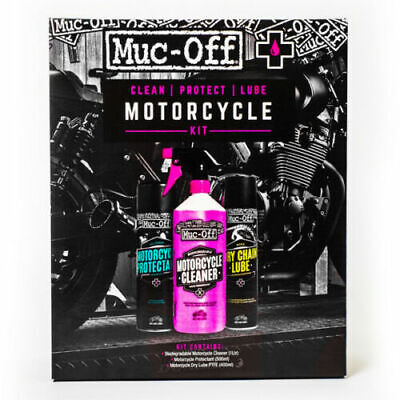 Muc-Off Motorcycle Motorbike Clean Protect Lubricant Multi Pack Gift