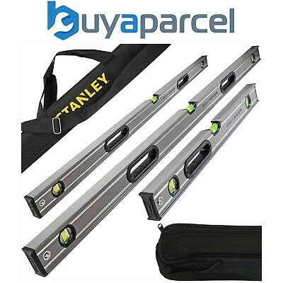 Stanley Fatmax Pro Box Beam Pro Spirit Level Set 600mm, 1200mm and 1800mm + Bag