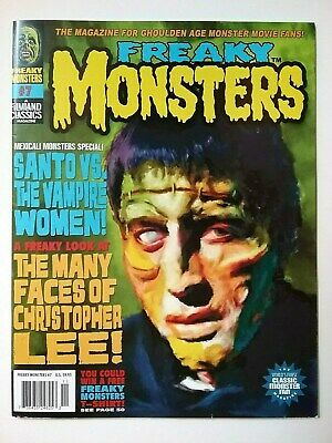 """""""Freaky Monsters"""" Magazine No. 7  2012  """"Many Faces Of Christopher Lee"""" Famous"""