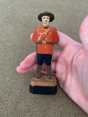 "Hand Carved Hand Painted 4.5"" Mini Soldier Wooden (MF)"