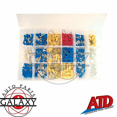 New ATD 360 Piece Assorted Terminal Kit includes Butt, Ring, Spade, Bullet Con.