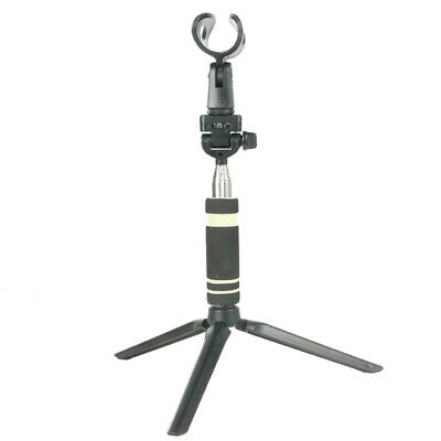 New Table Microphone Mic Tripod Stand Adjustable Black Desktop Clamp Clip Holder