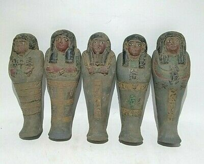 5 Rare Ancient Egyptian Antique Ushabti 1454-1162 Bc