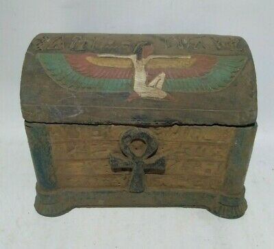 Rare Ancient Egyptian Antique Box 1340-1141 Bc