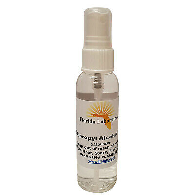 ISOPROPYL ALCOHOL 99% - 100% High Purity 2.33 oz Spray Small Bottle Desinfectant