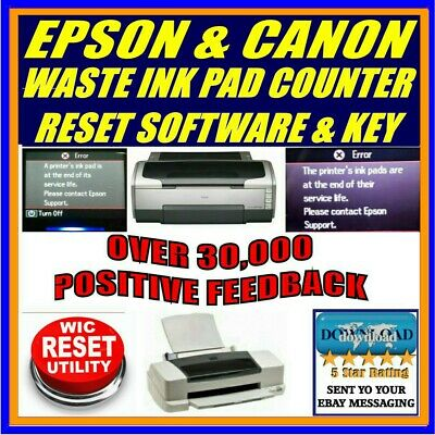Epson Printers Waste Ink Pad Full Service Error Counter Reset Plus Key Download