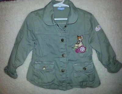 Girls Disney Bambi Thumper Fall Jacket Xl With Embroidery And Screen Print