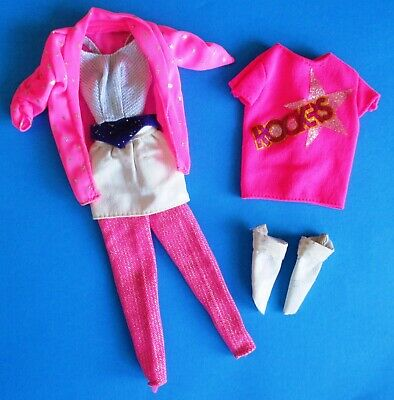 *** 1985 Barbie and the Rockers Pink Glitter Vintage Mattel Outfit