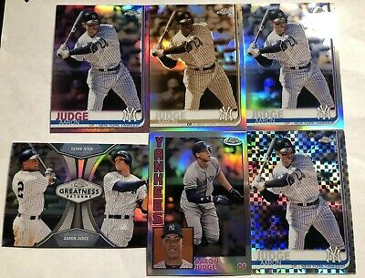 2019 Topps Chrome AARON JUDGE #100 Sepia Pink Xfractor Refractor LOT Jeter CLEAN