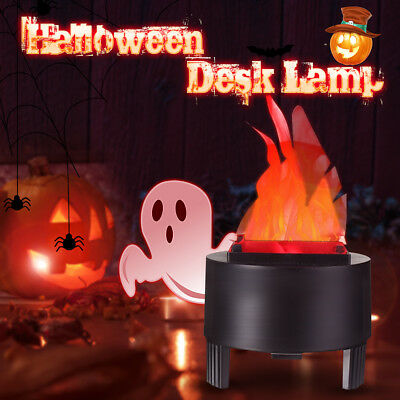 LED Fake Flame Lamp Torch Light Fire Pot Bowl Halloween Prop Party Home Decor