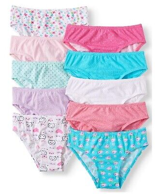 2 PACKS NOW!! Wonder Nation Toddler Girls 10-Pack Hipsters Underwear Size 4T/5T