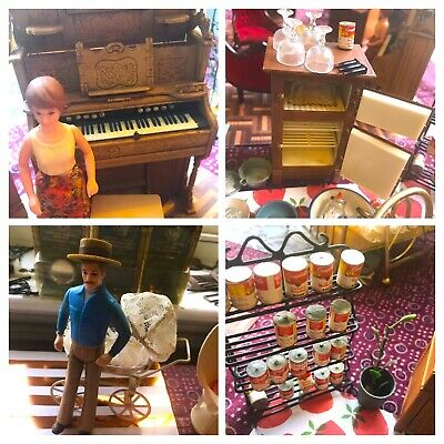 Charming LOT Miniatures Doll House Furniture Vintage Rare Antique Collectible ++