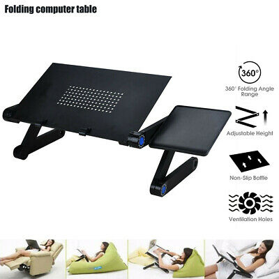 Stand Portable Holder Foldable Home Pad Mouse Laptop Desk Adjustable Convenient