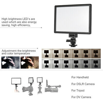 Viltrox L116T Professional Ultra-thin LED Video Light for Camera Camcorder S3C0