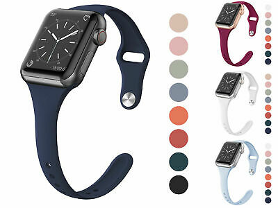 For Apple Watch Silicone Sport Band Strap Loop Bracelet Series 4 3 2 1 38mm 40mm