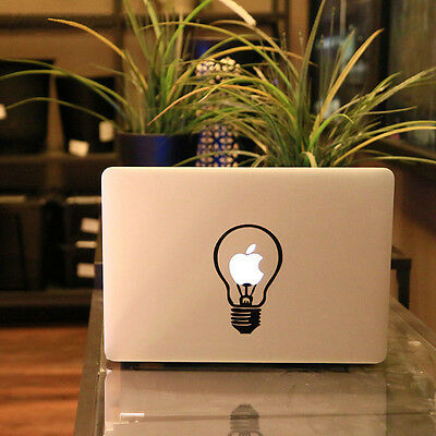 Fine Light Bulb Vinyl Decal Stickers Skin for Apple MacBook Pro Air Mac Fad