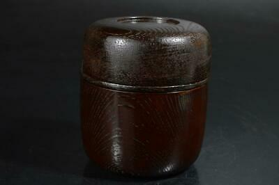 T1751: Japanese Wooden Lacquer ware Shapely LUNCH BOX Tea Ceremony