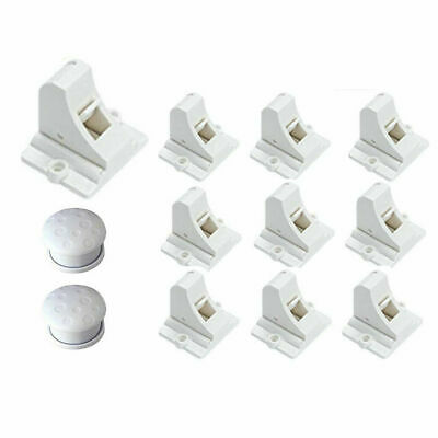 10PCS Magnetic Cabinet Locks Baby Safety Invisible Child Drawer Cupboard Pr S7O0