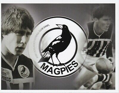 SANFL Port Adelaide Magpies Magnet Brian Cunningham and Peter Woite