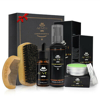 Beard Care Kit Tool Set Grooming Balm Oil Mustache Products Supplies Travel Gift