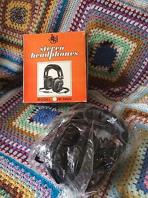 Vintage 1970s Stereo Headphones Mint Condition Boxed 80s Film Prop Costume NOS