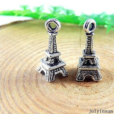 58pcs Vintage Silver Alloy Eifel Tower Pendant Charms Jewelry Findings 51214
