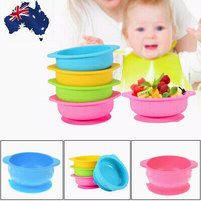 Kids Feeding Suction Table Food Tray Placemat Plate Baby Silicone Bowl Dish Mat