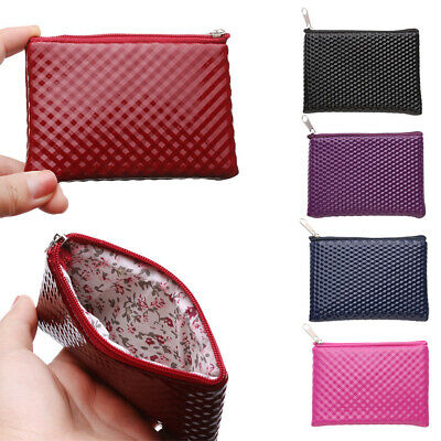 Women Ladies Leather Small Wallet Bag Coin Purse Card Holder Zip Clutch~