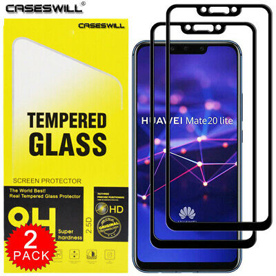 For Huawei Mate 20 Lite - FULL COVER 9D Tempered Glass Screen Protector [2-Pack]