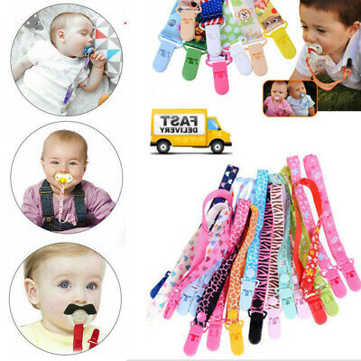 Kids Baby Boys Girls Dummy Pacifier Soother UK Strap Chain Clip Holder Strap
