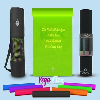 YogaFlex™ Yoga Mat Non-Slip for Pilates Gymnastic Exercise with FREE Carry Bag