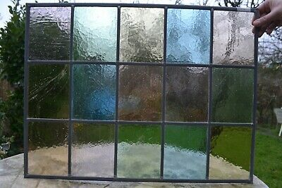 C14. Traditional leaded light stained glass window door panel made new your size