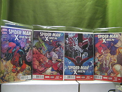 Marvel Comics SPIDER-MAN and the X-MEN #1,2,3,4, / First Printing  /