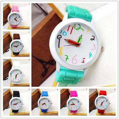 Fashion Womens Mens Kids Girls Boys Ladies Wrist Watch Jelly Silicone Watches