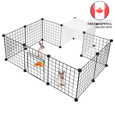 🇨🇦 Pet Dog Playpen Small Animal Cage Indoor Portable Metal Wire Yard Fence ...