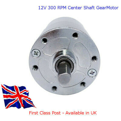 12V DC - HIGH TORQUE Electric Motor 300 RPM with GBox - Available in UK