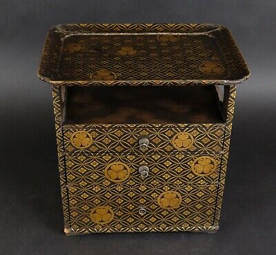 Antique Japanese Gold Lacquer Cabinet, Meiji period 19th century.