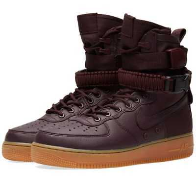NIKE AIR FORCE 1 SF AF1 Trainers Boots Deep Burgundy UK