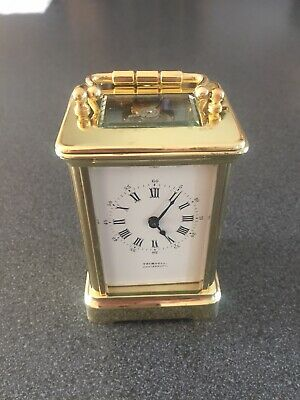 Very High Quality Fully Serviced Brass Cased English Carriage Clock