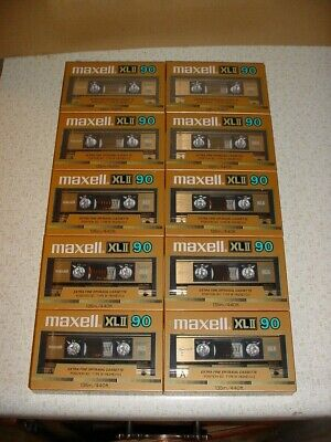 Lot Of 10 New Vintage Maxell Xlii 90 Extra Fine Epitaxial Cassette Tapes Japan