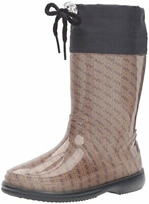 GUESS Paolo Pull-On Boot,Beige/Black,21 EU/5.5 M US Toddler