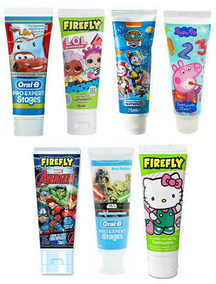 Toothpaste Kids Children Oral-B Cars Firefly Lol Surprise Peppa Pig Paw Patrol