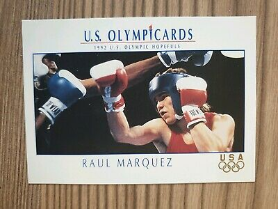 US Olymp Cards Raul Marquez Boxen OS 1992 Nr. 26 Trading Card