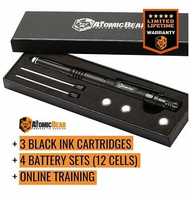 Atomic Bear Tactical Pen With LED Flashlight Glass Breaker Defense Pen Device