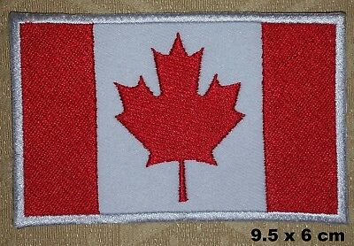 Canada Canadien National Pays Drapeau Thermocollant Patch Brodé T-Shirt Badge
