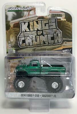 """Chase Greenlight 49040 A 1974 Ford F-250 Bigfoot 66"""" Tires Monster Truck 1:64"""