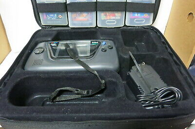 Sega Game Gear Handheld Tested Working Console With 7 Games, Carrying Case